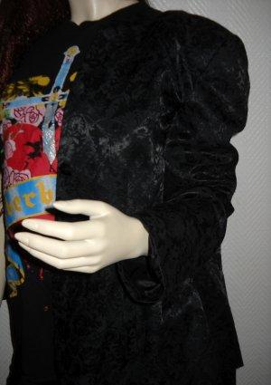 Long Jacke Blazer alba moda schwarz Muster geblümt Blüten wie neu
