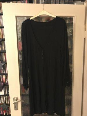 Long-Jacke/Cardigan V-Ausschnitt mit 3 Knöpfen schwarz Größe L – selten getragen