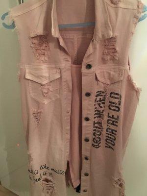 Made in Italy Smanicato jeans rosa chiaro