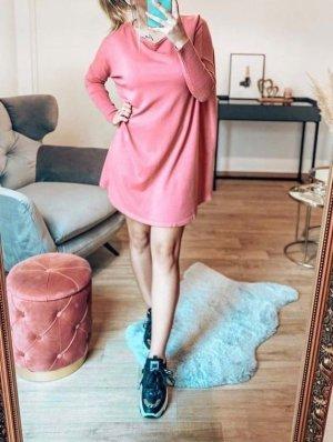 Boutique Comtesse Sweter oversize różowy neonowy