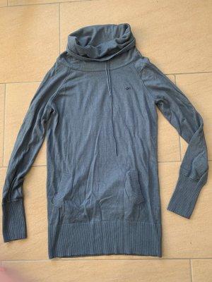Long-Pullover blau