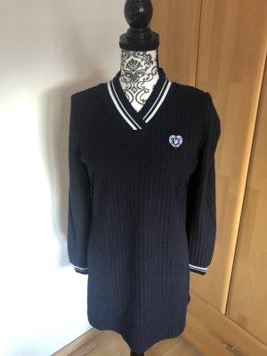 AIKI KEYLOOK Long Sweater dark blue-white