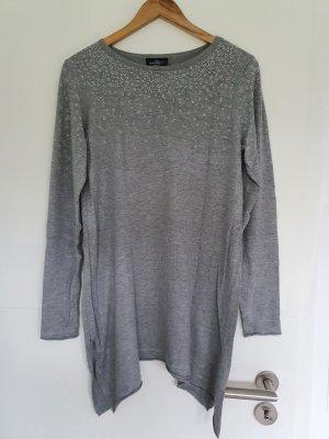 Gina Benotti Długi sweter srebrny-szary