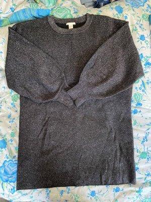 Long Pullover Glitter Kleid