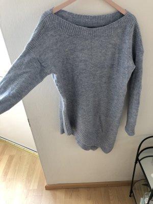 Long Pullover hellblau asymmetrisch