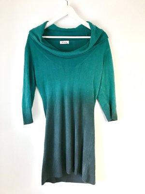 Long Pullover / Kleid, Wasserfallkragen L, M, S