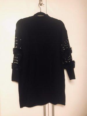 Long Pullover mit Perlen Damen Winter Neu XL