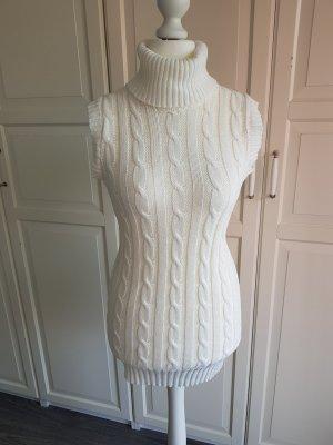 Jersey trenzado blanco puro