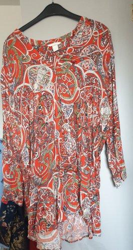 H&M Basic Sukienka tunika jasnobrązowy-pomarańczowy