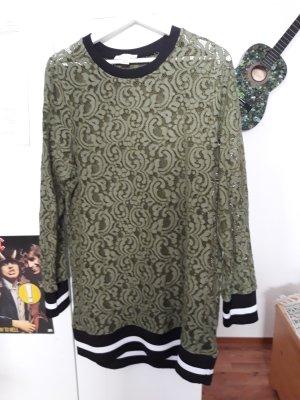 Paraphrase Lang shirt groen-grijs