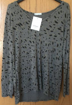 Long-Shirt v.WelcomeFashion-grau-schwarz-Gr.ca.40/Neu-mit Etikett
