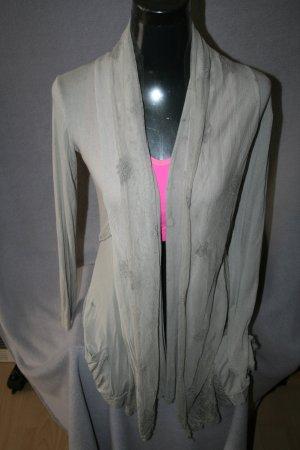 Long Shirtjacke Gr. L von Made in Italy in beige - wie neu