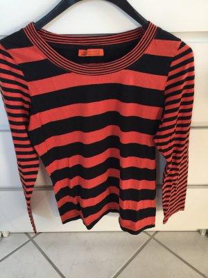 Authentic Koszulka z długim rękawem czarny-pomarańczowy