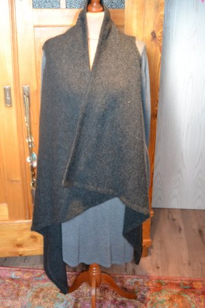 Review Long Knitted Vest dark grey