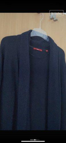 s. Oliver (QS designed) Abrigo de punto azul oscuro lana de alpaca