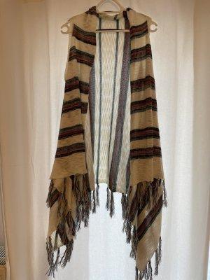 Forever 21 Gilet long tricoté multicolore