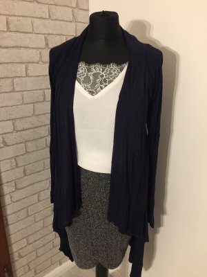 Long Strickjacke blau gr 40 Cardigan