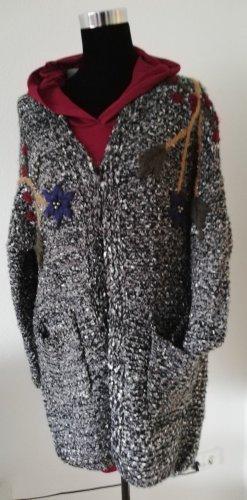 Made in Italy Gebreide jas zwart-grijs