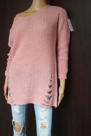 0039 Italy Lange jumper roségoud-stoffig roze