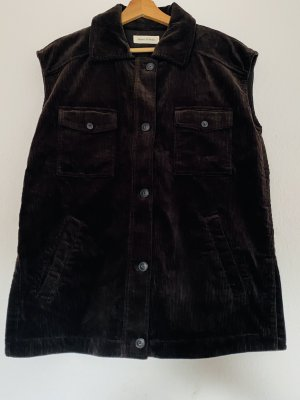 Marc O'Polo Long Knitted Vest brown
