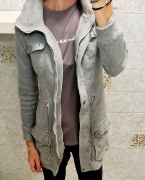 Long Zip teddy Fleece Parka jacke mantel