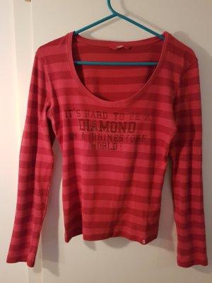 edc Gestreept shirt rood