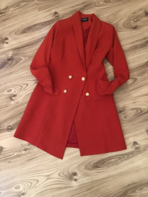 Figl Long Blazer brick red