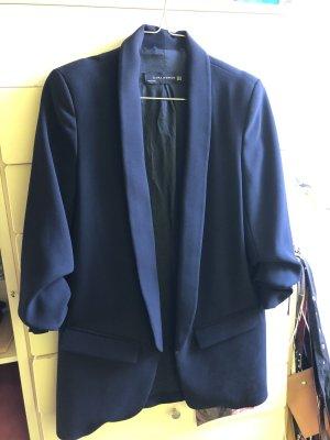 Zara Lange blazer donkerblauw