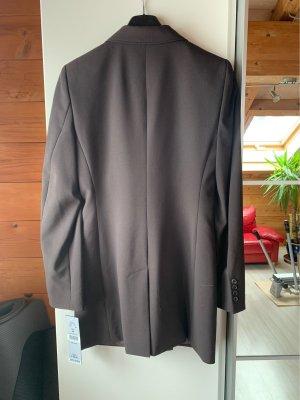 Blacky Dress Lange blazer donkerbruin