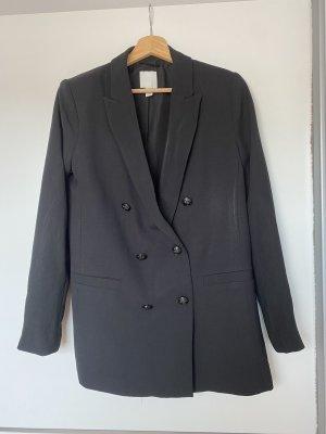 H&M Lange blazer zwart