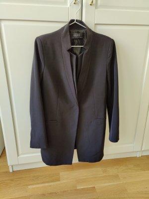 Longblazer Mantel von Zara mit umgekehrtem Revers
