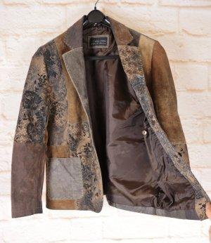 Julia S. Roma Blazer en cuir multicolore tissu mixte