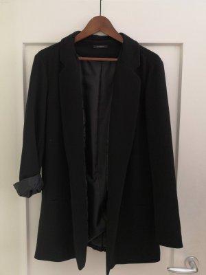 Promod Lange blazer zwart Polyester