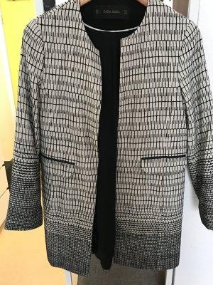 Longblazer schwarz weiß Zara