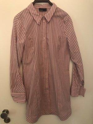 Vero Moda Blusa larga rosa-gris