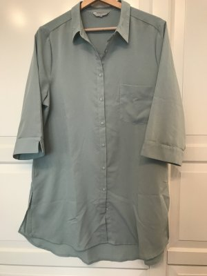 Strauss Innovation Long Blouse sage green-pale blue polyester