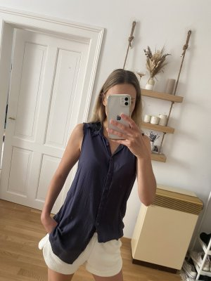 Cream Blusa larga azul oscuro