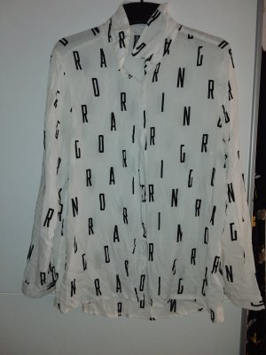 H&M Divided Long Blouse black-white