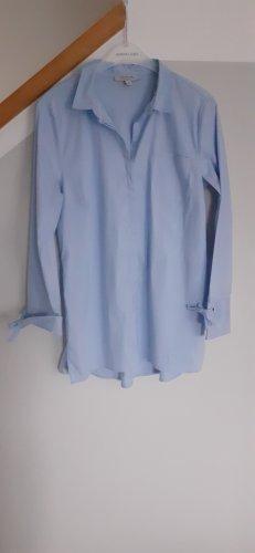 Comma Lange blouse lichtblauw Katoen