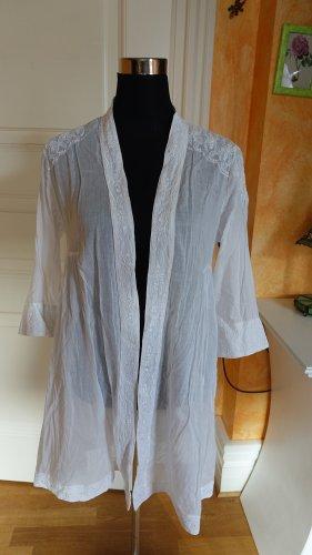 Promod Blouse longue blanc coton