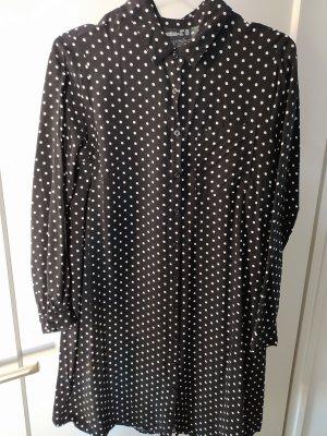 Longbluse gr.40 schwarz weiß polka dots