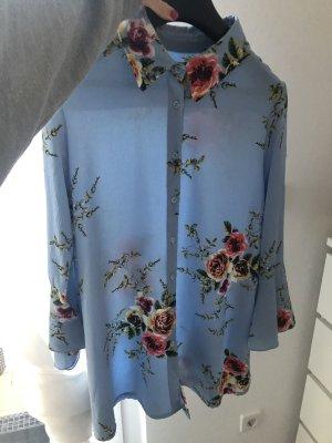 Lange blouse azuur