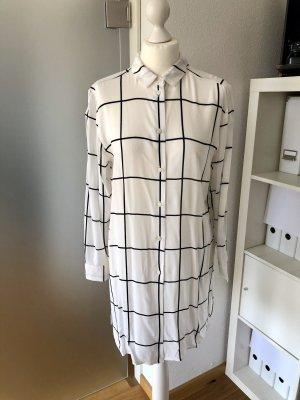Longbluse H&M weiß schwarz 40
