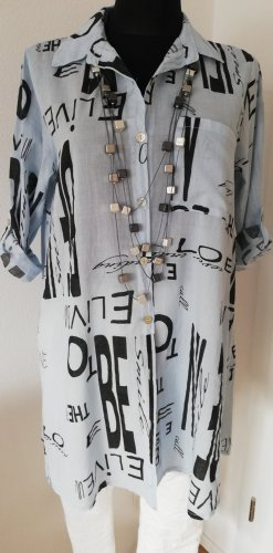 Made in Italy Long Blouse black-azure