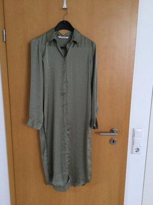 Zara Blouse longue gris vert polyester