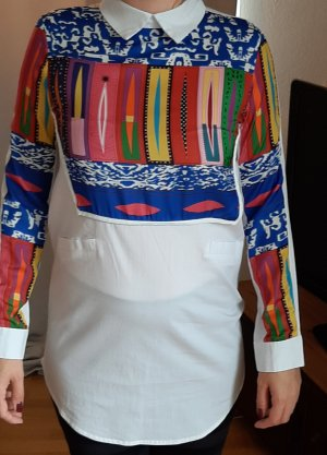 Blouse longue multicolore