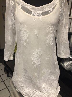 Tamaris Blusa de túnica crema Viscosa