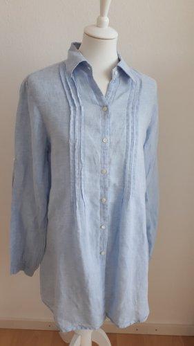 rossana diva Linnen blouse lichtblauw