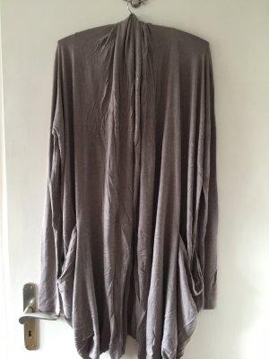 unee+o Manteau en tricot marron clair