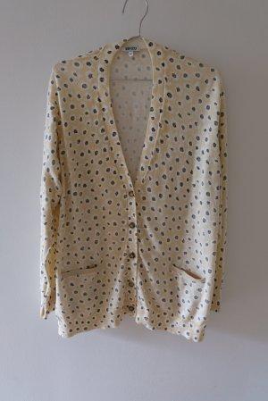 Longcardigan aus Baumwolle mit seitlichen Schlitzen